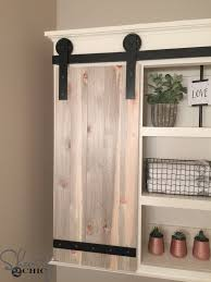 barn door ideas for bathroom diy sliding barn door bathroom cabinet shanty 2 chic
