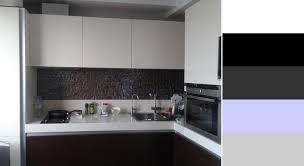Kitchen Design Black And White Contemporary White And Black Kitchen Design Idea Lavender Blue