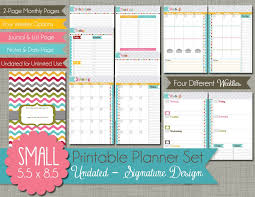 monthly day planner template 5 5 x 8 5 weekly planner template september printable calendars the polka dot posie how to print assemble our small planner pages