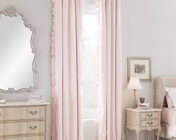 Pale Pink Curtains Decor Light Pink Curtain Etsy