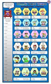 81 free esl past tense verbs worksheets