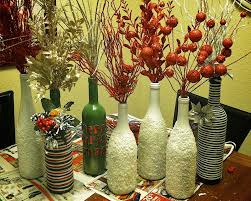 Flower Vase Decoration Home Great Looking Ornament Centerpieces From Diy Wine Bottle Flower