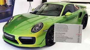 Paint Design by Porsche 911 Turbo S U0027 Custom Factory Paint Job Costs Almost 100k
