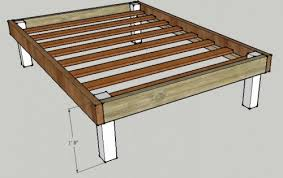 platform bed plans queen free woodworking project free queen bed