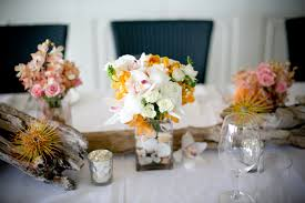 driftwood centerpieces flowers driftwood and seashell centerpieces