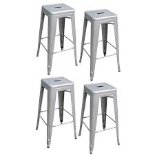 30 Inch Bar Stool Amazon Com Amerihome Metal Bar Stool Set 30 Inch Silver Set Of