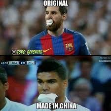 Meme Messi - messi y su camiseta firmada por cristiano protagonistas de los