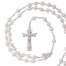 amazon com sterling silver pearl rosary bead necklace arts