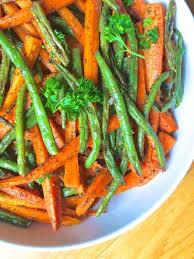 za atar roasted carrots and green beans the lemon bowl
