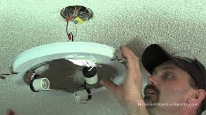 How To Change A Ceiling Fan by How To Replace A Ceiling Light Fixture Youtube