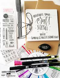 organize your craft stash with tombow and sweet stamp shop