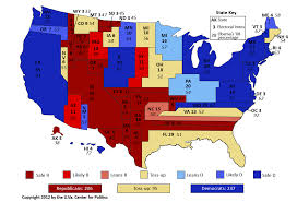 Image Of United States Map Larry J Sabato U0027s Crystal Ball Mapping The United States