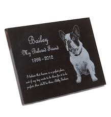 dog memorial custom engraved granite pet memorial plaque black