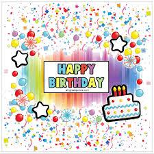 happy birthday animated confetti birthday card
