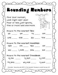 free rounding worksheets 4th grade ordering numbers maths worksheets for year 1 age 5 6 timi
