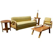 paul frankl style tropitan bamboo sofa and daybed daybed