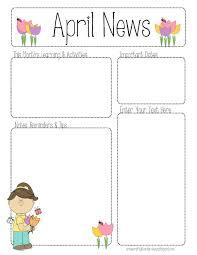 teacher newsletter template the crafty teacher pre k newsletter