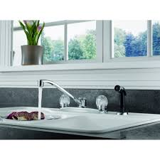 peerless two handle kitchen faucet with side sprayer chrome
