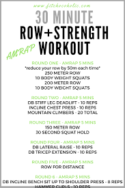 Incline Bench Dumbbell Rows 30 Minute Row Strength Workout The Fit Chocoholic