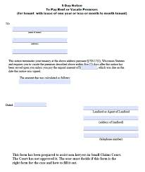 Terminate Lease Letter 5 Day Eviction Notice Template