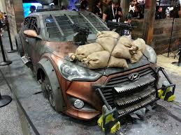 nissan veloster 2013 hyundai veloster zombified for the walking dead super street