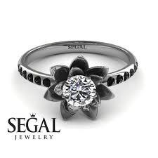 flower engagement rings flower engagement ring 14k white gold 0 5 carat cut