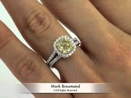 fancy yellow diamond engagement rings 2 22ct fancy yellow cushion cut diamond engagement anniversary