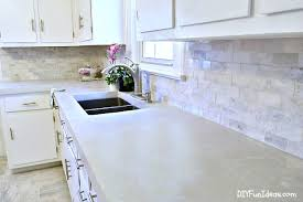 Diy Kitchen Makeovers - gorgeous budget kitchen makeover with white concrete countertops