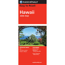 Hawaii State Map by Rand Mcnally Folded Map Hawaii