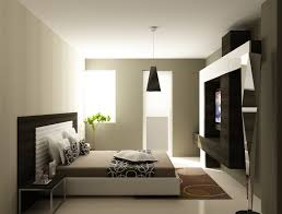 amazing bedroom design with round white pendant lamp blue wall