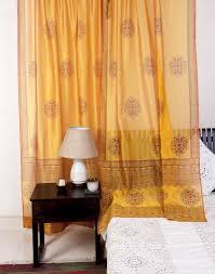 buy fabindia yellow silk cotton printed saumya curtain online buy fabindia yellow silk cotton printed saumya curtain online fabindia com