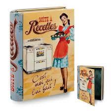 boite cuisine vintage boite à recettes cuisine originale en forme de livre moi qui l ait