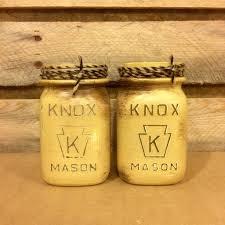 vintage knox mason jars beige mason jar canister set rustic