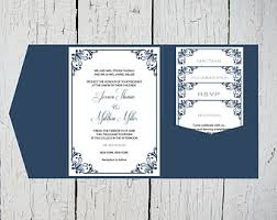 diy pocket wedding invitations pocketfold invite etsy