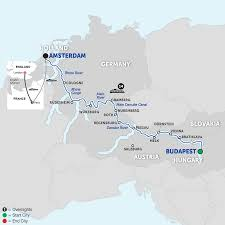 Map Of Germany With Cities And Towns In English by Danube River Cruise Avalon Waterways