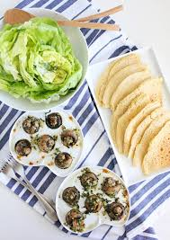 escargot cuisine plant based escargot with butter lettuce salad and chickpea