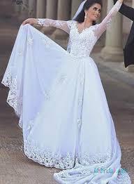 3 4 length sleeve bridal gowns lace vintage mermaid sleeved