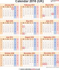 2016 calendar printable uk calendar 2016 2016