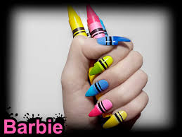 crayon nails 3d nail design of colorful crayon colors fun