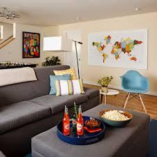 extensive dark gray velvet sectional sofa for open living room