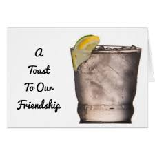 toast friendship greeting cards zazzle