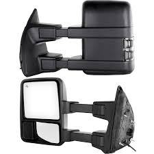 amazon com towing telescoping folding black textured tow mirrors