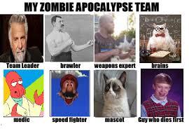 Meme Zombie - meme zombie apocalypse team by kcn27 on deviantart