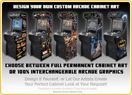 Make Your Own Arcade Cabinet by Game Room Graphics