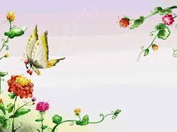 free butterfly garden summer backgrounds for powerpoint flower