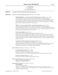 exle of a cv resume glenn alan meinhardt resume