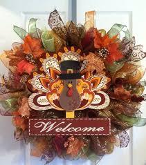thanksgiving wreath fall wreath thanksgiving autumn turkey deco mesh wreaths