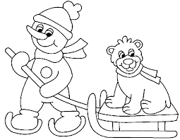 winter sports coloring pages coloring pages kids