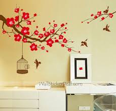 Decorating With Plum Home Decorating Images Plum Tree Flower With Birds And Birdcage