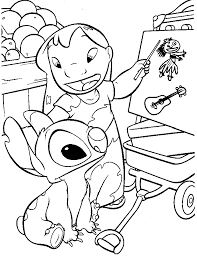 lilo stitch coloring pages getcoloringpages